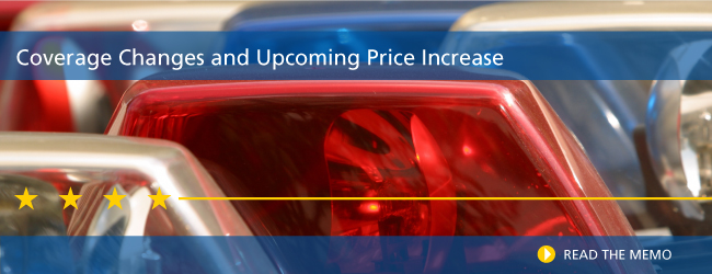 Coverage Changes and Upcoming Price Increase | Read the Memo